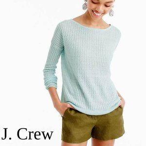 JCrew Linen Cable Knit Sweater